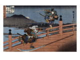 Combat de samouraï Lámina giclée por Ando Hiroshige