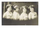Ella Vendaro Troupe (4 Women and 2 Men) (Zeiter Act) Giclee Print