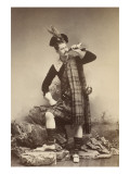 Eugene Venues in Scottish Costume, Standing, Walking Giclee Print by Frères Cayol