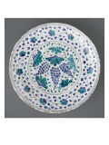 Dish with Vine Decorated with Foliage Green and Blue Giclee Print