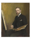 Guillaume Dubufe (1853-1909) &#224; son chevalet Giclee Print by Emile Friant