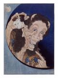 Démon riant Giclée-Druck von Katsushika Hokusai