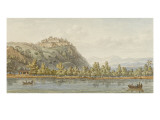 Denon Drawing the Castle on the Banks of the Po Wart Giclee Print by Hippolyte Lecomte