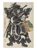 Génie terrassant un démon Giclee Print by Kuniyoshi Utagawa