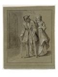 Convulsionnaires et miraculés de Saint-Médard :  Philippe Sergent, maladie Giclee Print by Jean Restout