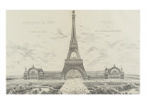 Projet pour l&#39;Exposition Universelle de 1889 Reproduction proc&#233;d&#233; gicl&#233;e par Alexandre-Gustave Eiffel