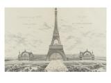 Projet pour l'Exposition Universelle de 1889 Gicléetryck av Alexandre-Gustave Eiffel