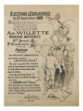 Elections législatives Giclee Print by Adolphe Leon Willette
