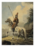 Lancier cosaque Giclee Print by Antoine Charles Horace Vernet