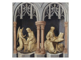 Death of the Virgin Mary - St. Matthew and St. Mark Giclee Print by Hugo Van Der Goes