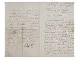 Copy of a Letter to Paul De Saint Victor, 26 May 1856 Giclee Print by Eugene Delacroix
