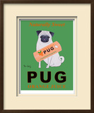 Pug Orange Juice Limited Edition Framed Print by Ken Bailey