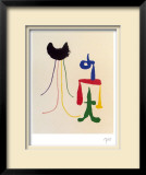 Illustrated Poems-Parler Seul Limited Edition Framed Print by Joan Miró