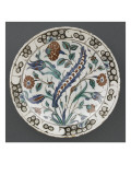 Dish with Great Saz Leaves on a Light Bouquet Beaded Giclee Print