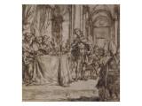 Entrée de l'empereur Constantin à une séance du premier Concile de Nicée Giclée-Druck von Juan de Valdes Leal