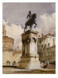 Statue équestre du Colleone de Verrochio à Venise, place San Giovanni et Paolo Giclee Print by Richard Parkes Bonington