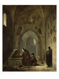 Vivant Denon remettant dans leurs tombeaux les restes du Cid et de Chimène Giclee Print by Adolphe Roehn
