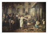 Le docteur P. Pinel faisant tomber les chaînes des aliénés Giclée-Druck von Tony Robert-fleury