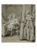 Convulsionnaires et miraculés de Saint-Médard : la demoiselle Coirin, maladie Giclee Print by Jean Restout