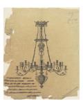 Projet de lustre à 18 bras de lumières Giclee Print by Antoine Zoegger
