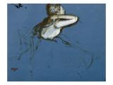 Danseuse assise, vue de profil vers la droite Giclée-tryk af Edgar Degas