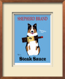 Shepherd Steak Sauce Limited Edition Framed Print by Ken Bailey