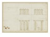 Décoration pour l'intérieur d'une chapelle octogonale Giclée-Druck von Herman Vischer