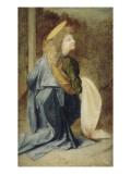 Copie d'après Verrocchio : détail d'un ange dans le baptême du Christ (Florence, Offices) Giclée-Druck von Andrea del Verrocchio