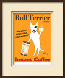 Bull Terrier Coffee Limited Edition Framed Print by Ken Bailey