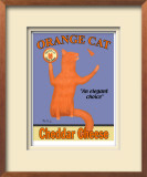 Orange Cat Limited Edition Framed Print by Ken Bailey
