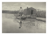 An Eel-catcher's home Giclee Print by Peter Henry Emerson
