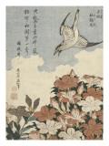 Coucou et azalées Giclée-Druck von Katsushika Hokusai