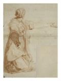 Femme drapée, agenouillée Giclée-Druck von Daniele Da Volterra