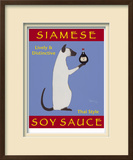 Siamese Soy Sauce Limited Edition Framed Print by Ken Bailey