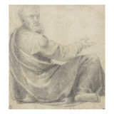 Homme drapé assis Giclée-Druck von Daniele Da Volterra