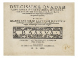 Dulcissimae Quaedam Cantiones, Number Xxxii: Bassus Giclee Print by Johann Kn&#246;fel