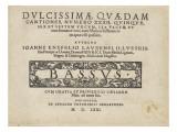 Dulcissimae Quaedam Cantiones, Number Xxxii: Bassus Giclee Print by Johann Knöfel