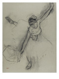 Danseuse saluant Reproduction proc&#233;d&#233; gicl&#233;e par Edgar Degas