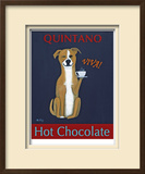 Quintano Hot Chocolate Limited Edition Framed Print by Ken Bailey