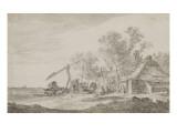 Chaumière et puits Giclée-Druck von Jan Van Goyen