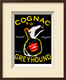 Greyhound Cognac Limited Edition Framed Print by Ken Bailey