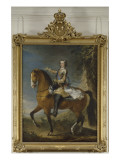 Equestrian Portrait of Louis Xv in 1723 (1710-1774) Giclée-Druck von Jean Baptiste Van Loo