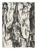 Tour Eiffel Reproduction procédé giclée par Robert Delaunay