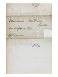 Envelope Pierre Andrieu This Sunday, March 14, 1852 Giclee Print by Eugene Delacroix