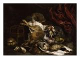 Chien auprès d'un étalage de gibier mort Giclee Print by Jan Fyt