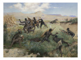 Death of the Prince Imperial in Zululand, 1 June 1879 Lmina gicle por Paul Joseph Jamin