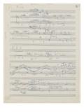 Etudes pour piano : esquisses, étude n°2, 2e cahier Giclee Print by Achille-Claude Debussy