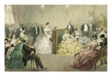 Evenings in Paris. a Concert in the Chaussee D'Antin. Giclee Print by Henri De Montaut