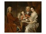 Familyportret Giclée-Druck von Jean Baptiste Van Loo