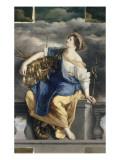 La Félicité Publique triomphant des Dangers Giclée-tryk af Orazio Gentileschi